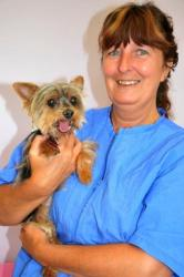 Cindy upclose with yorkie