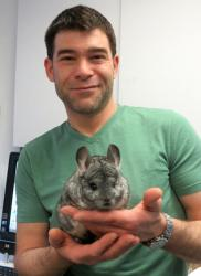John and Baron von Fuzzy Pants the Chinchilla