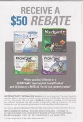 Merial $50 Heartworm/Flea/Tick rebate
