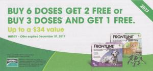 2017 Frontline coupon