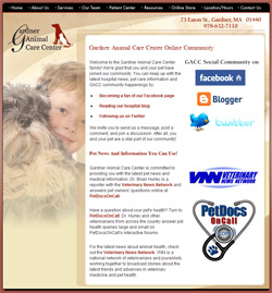 Gardner Animal Care Center Community Page